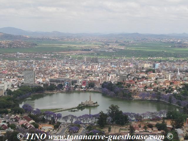 Vue aérienne de Antananarivo