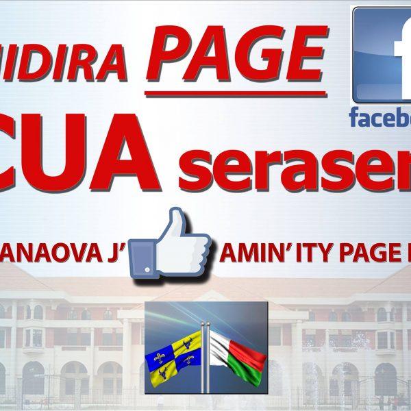 La Commune Urbaine Antananarivo sur Facebook CUA SERASERA OFISIALY